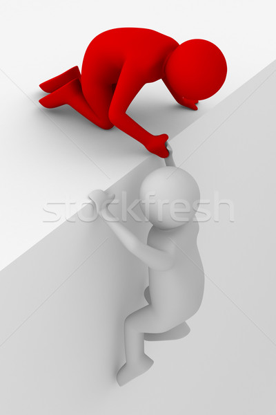 Aider difficile 3D image main Photo stock © ISerg
