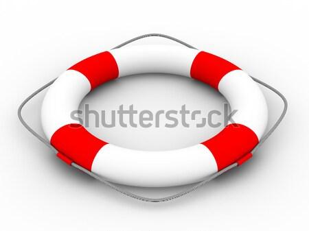 Lifebuoy on a white background. Isolated 3D image Stock photo © ISerg