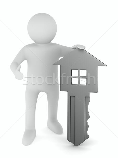 キー 男 白 3D 画像 ホーム ストックフォト © ISerg