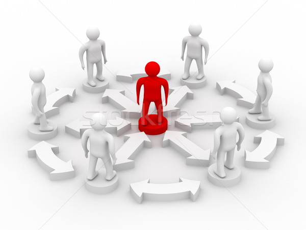 Stock photo: Conceptual image of teamwork. 3D image.