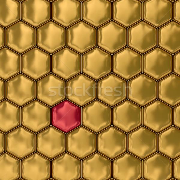Pettine miele 3D immagine illustrazioni texture Foto d'archivio © ISerg