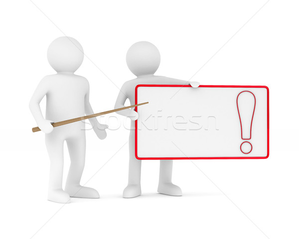 billboard with exclamation point on white background. Isolated 3 Stock photo © ISerg