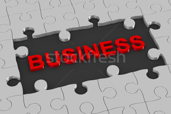 Puzzle and business. 3D illustration Stock photo © ISerg