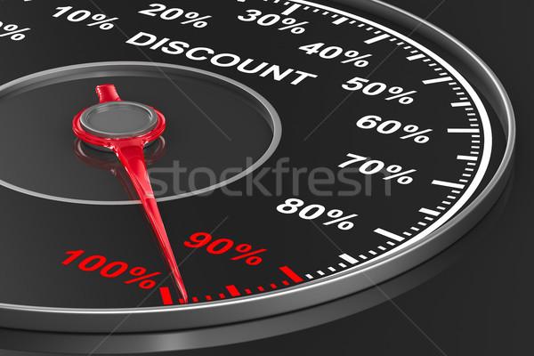 speedometer on black background. 3D illustration Stock photo © ISerg