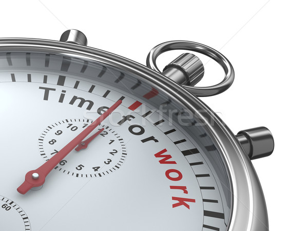 Time for work. Stopwatch on white background. Isolated 3D image Stock photo © ISerg
