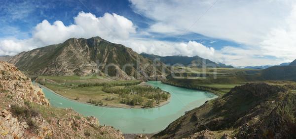 Montanhas belo paisagem Rússia sibéria madeira Foto stock © ISerg