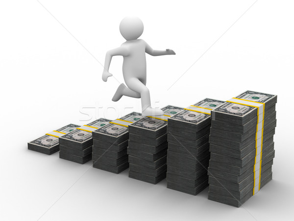 Stok fotoğraf: Finansal · büyüme · yalıtılmış · 3D · görüntü · iş