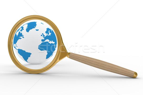 Felügyelet bolygó izolált 3D kép térkép Stock fotó © ISerg