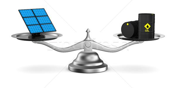Scelta potere carburante isolato 3D immagine Foto d'archivio © ISerg