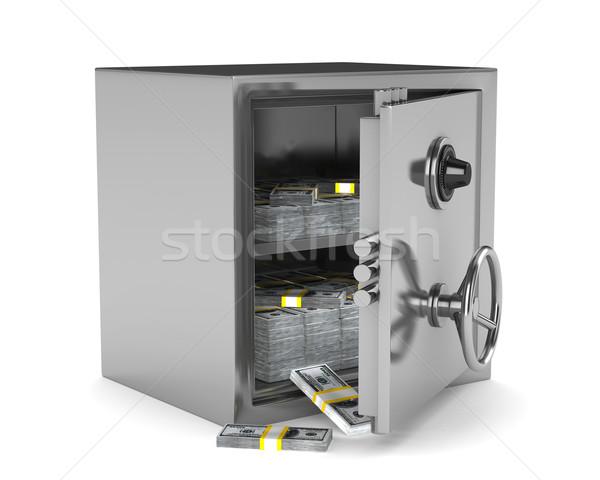 ストックフォト: 安全 · 白 · 孤立した · 3D · 画像 · ボックス