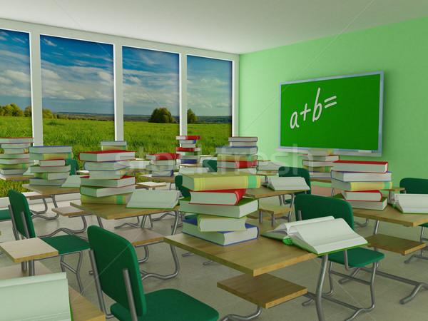 Foto stock: Interior · escolas · classe · 3D · imagem · paisagem