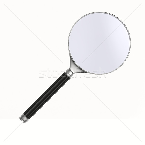 Magnifier on white background. Isolated 3D image Stock photo © ISerg