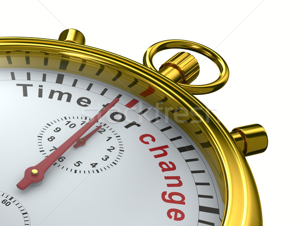 Time for change. Stopwatch on white background. Isolated 3D imag Stock photo © ISerg