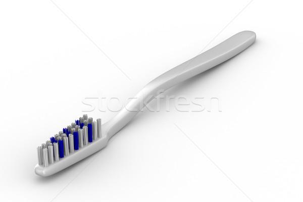 Tooth-brush on white background. Isolated 3D image Stock photo © ISerg