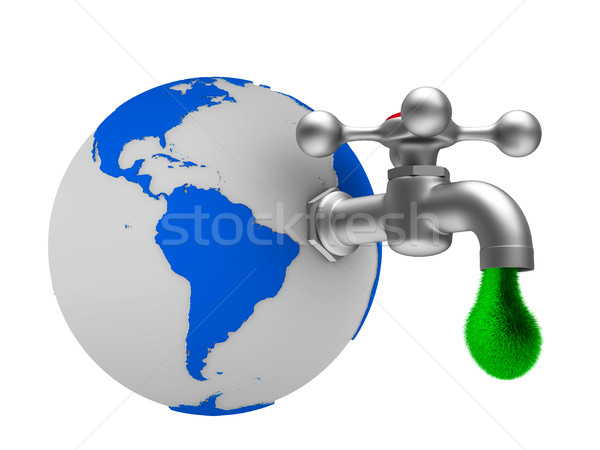 faucet on white background. Isolated 3D image Stock photo © ISerg