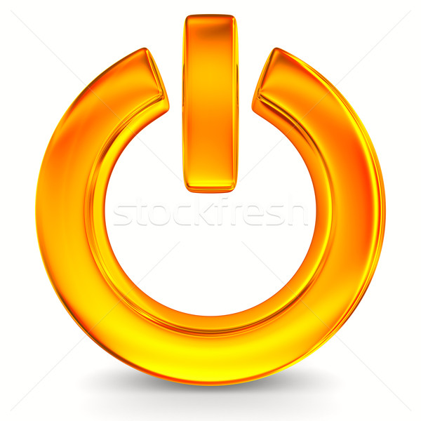 power sign on white background. Isolated 3D image Stock photo © ISerg