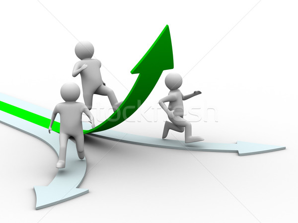 Movement direction to success. Isolated 3D image. Stock photo © ISerg