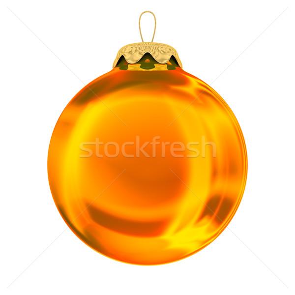 Weihnachten Dekoration weiß isoliert 3D Bild Stock foto © ISerg