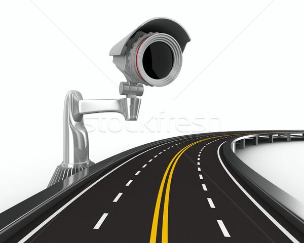 Weg camera witte geïsoleerd 3D afbeelding Stockfoto © ISerg