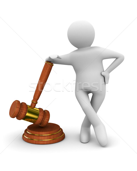 Auction gavel on white. Isolated 3D image Stock photo © ISerg