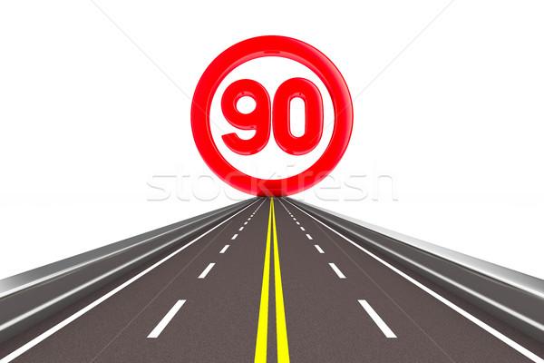 Teken snelheid geïsoleerd 3D afbeelding weg Stockfoto © ISerg
