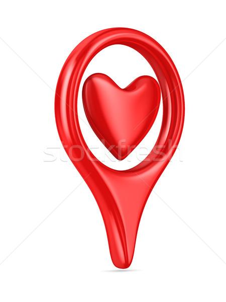 Aislado corazón blanco 3D imagen amor Foto stock © ISerg