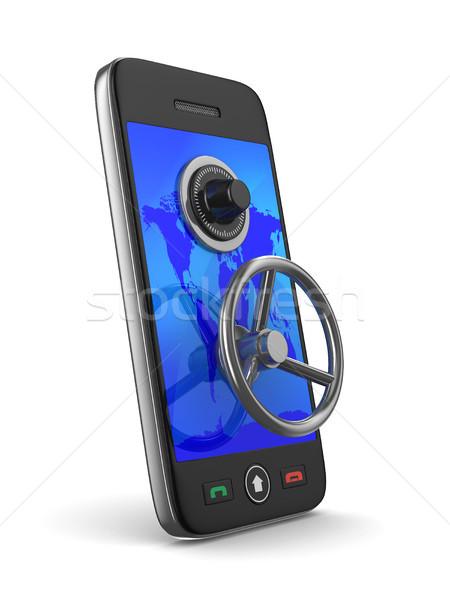 телефон ключевые белый изолированный 3D изображение Сток-фото © ISerg