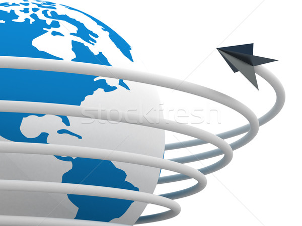 Stock photo: Global communication in the world. 3D image.