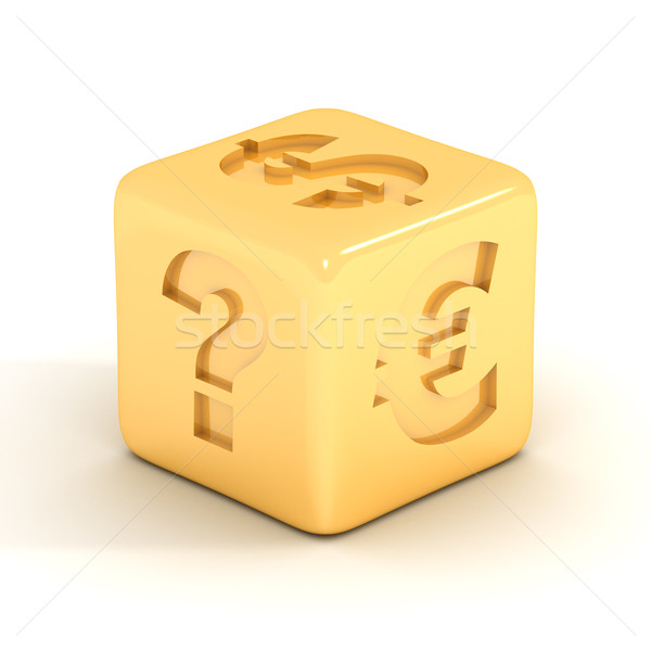 Cube with currency signs. 3D image. Stock photo © ISerg