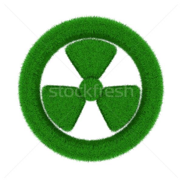 Radiazione simbolo erba isolato 3D immagine Foto d'archivio © ISerg