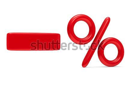 decrease percent on white background. Isolated 3D image Stock photo © ISerg