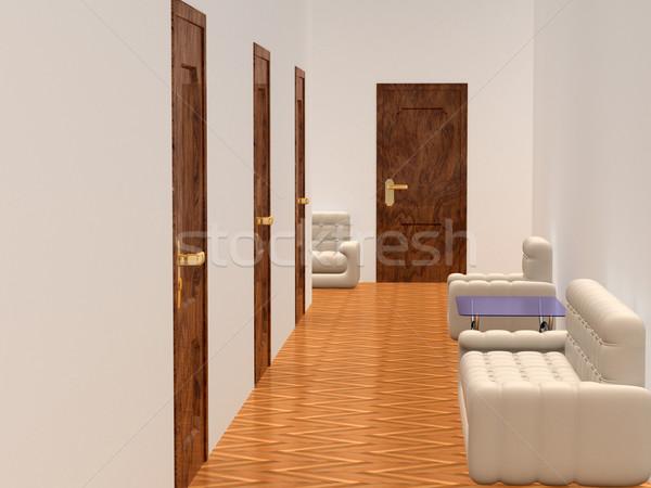 Interior corredor sala de espera 3D imagen negocios Foto stock © ISerg