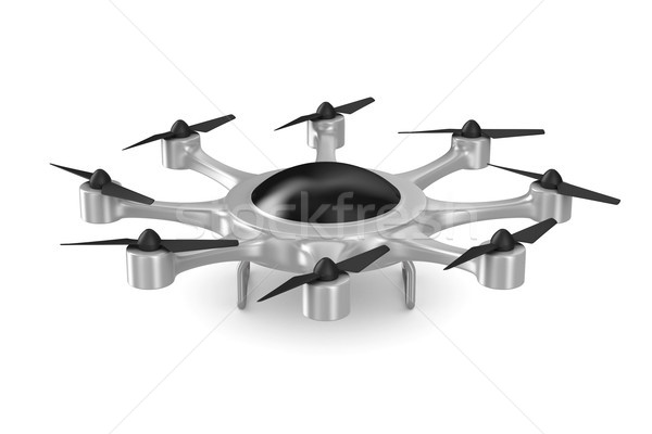 Stockfoto: Witte · geïsoleerd · 3d · illustration · veiligheid · vliegen · moderne