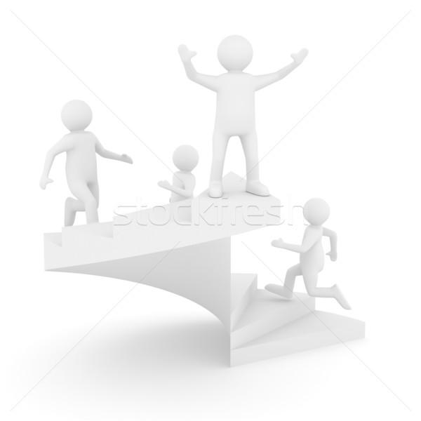 リーダーシップ 白 孤立した 3D 画像 男 ストックフォト © ISerg