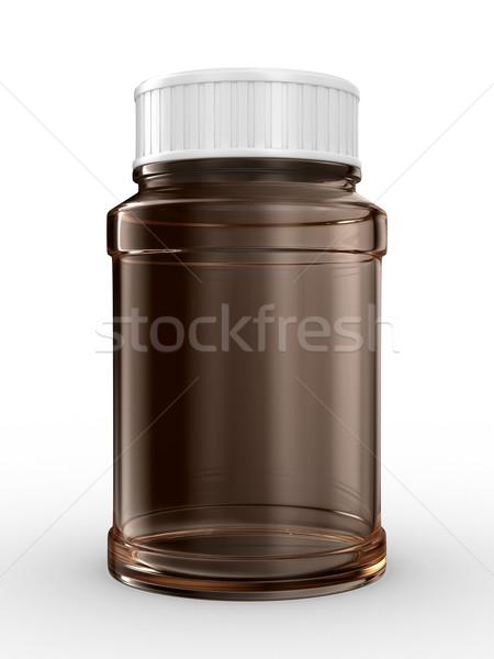 Zdjęcia stock: Butelki · biały · odizolowany · 3D · obraz · medycznych