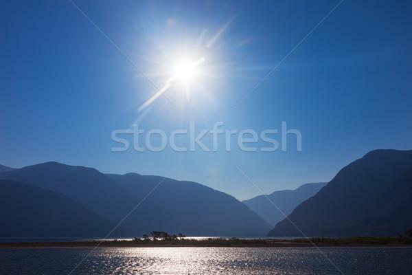 Teletskoye lake in mountains. Altai Russia Stock photo © ISerg