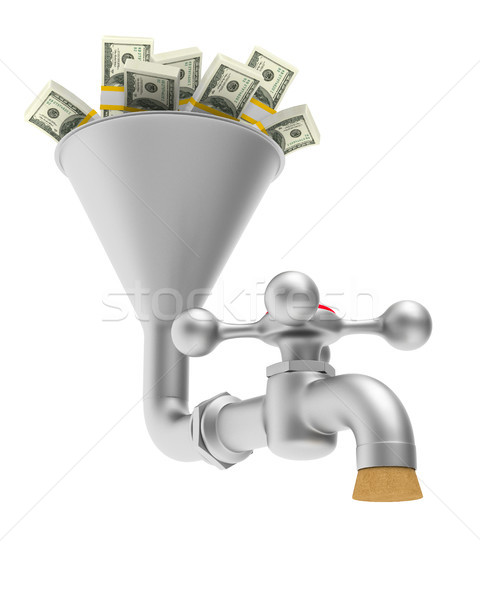 faucet on white background. Isolated 3D illustration Stock photo © ISerg