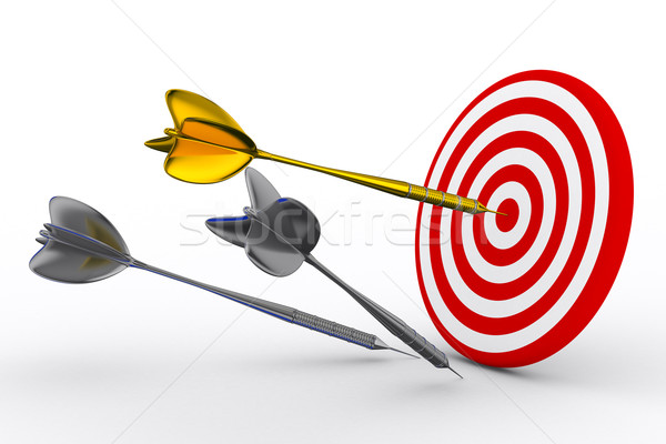 Darts fehér izolált 3D kép sport Stock fotó © ISerg