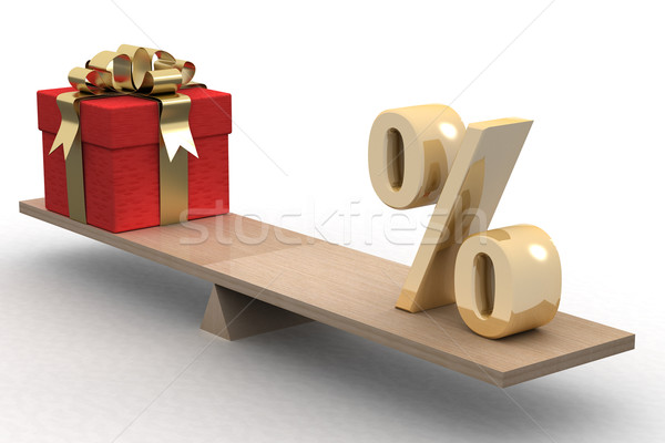 Discounts for gifts. Isolated 3D image Stock photo © ISerg