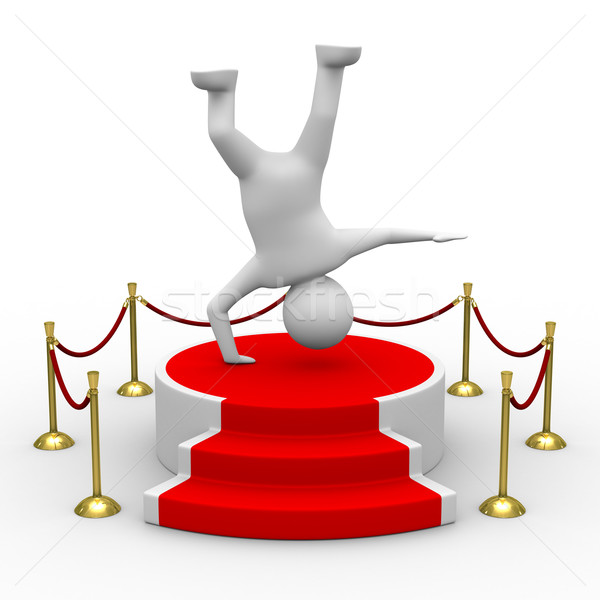 Stock photo: podium on white background. Isolated 3D image