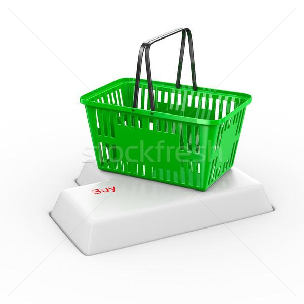 online shopping on white background. Isolated 3d illustration Stock photo © ISerg