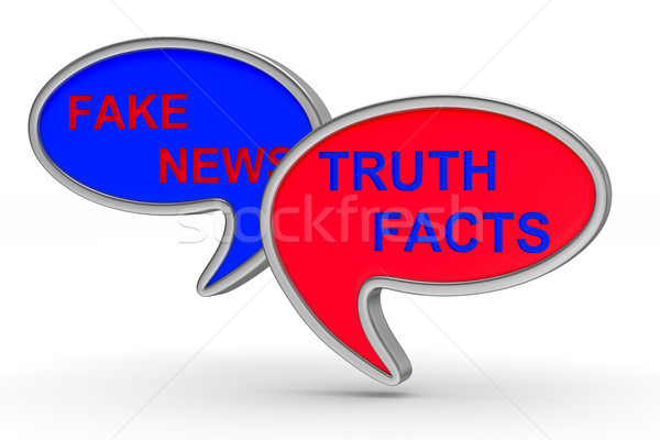 Fake news. talk balloon on white background. Isolated 3D illustr Stock photo © ISerg