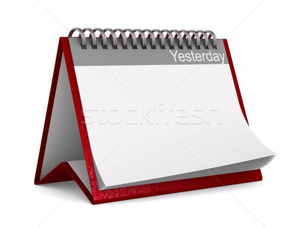 Calendário ontem branco isolado 3D ilustração 3d Foto stock © ISerg