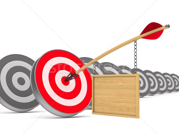 arrow and dartboard on white background. Isolated 3D illustratio Stock photo © ISerg
