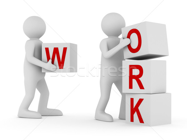 Stockfoto: Afbeelding · teamwerk · witte · geïsoleerd · 3D · business