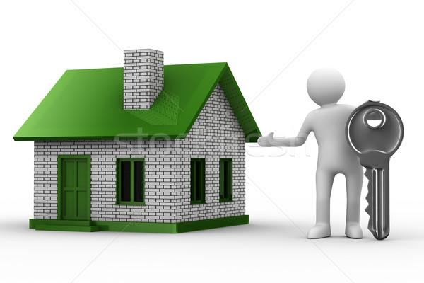 Presentation of new house. Isolated 3D image Stock photo © ISerg