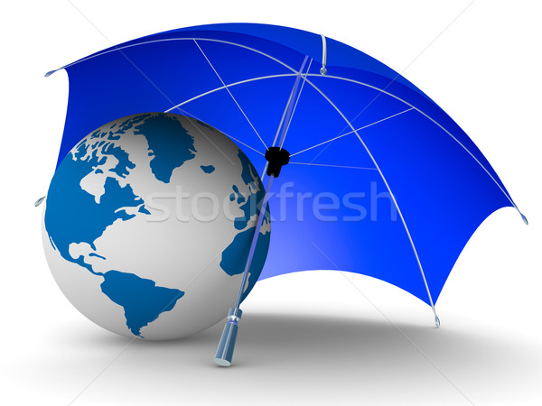 Protection environnement isolé 3D image monde Photo stock © ISerg