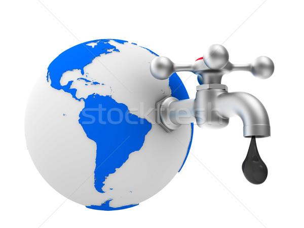Vízcsap fehér izolált 3D kép víz Stock fotó © ISerg