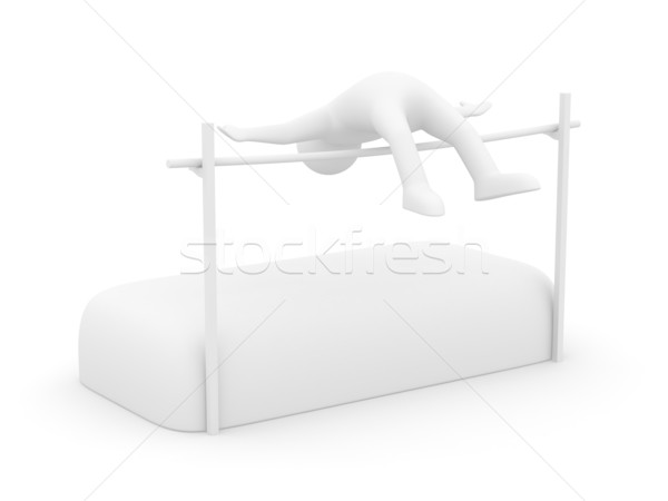 High jumps. Track and field athletics. Isolated 3D image Stock photo © ISerg