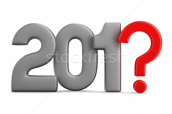 unknown new year. Isolated 3D illustration Stock photo © ISerg